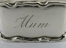 UNUSUAL SOLID SILVER 'MUM' NAPKIN RING 1940 ART DECO