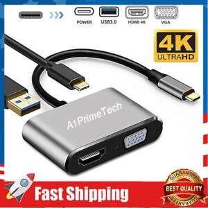 USB C 4 in 1 Multiport Adapter,Type C Hub to 4K HDMI,USB 3.0 Port,USB C Charging
