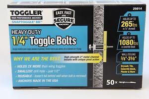Toggler SnapToggle 50PK Size: BB 1/4-20 Screw Size Toggle Bolt  25014
