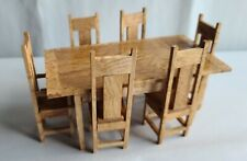 Handsome Dollhouse Miniature 7/Pc Dining Room Set!