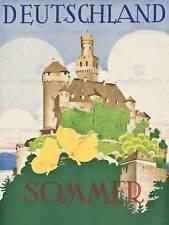 TRAVEL DEUTSCHLAND GERMANY SUMMER CASTLE HOHLWEIN SOMMER ART PRINT POSTER BB9728