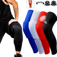 Youth Pad Honeycomb Leg Support Knee Sleeve Brace Sports Support Basketball AM