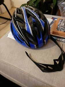 Adult cycle helmet with visor
