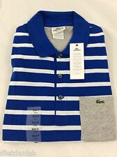 Lacoste Men's Polo Shirt Brand NWT Corvette Blue White Silver Size EU 8 US 2XL