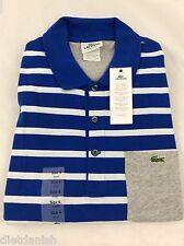 Lacoste Men's Polo Shirt Brand NWT Corvette Blue White Silver Size EU 3 US XS