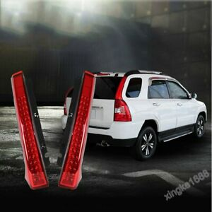 2pcs Fit Kia Sportage 2005-2010 S Red LED Car Taillight Brake Lamp Rear Bumper