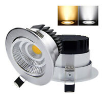LED Dimmable COB Down Lights AC85-265V Recessed LED Spot Light Home Ceiling Lamp