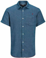 Jack & Jones Herren Regular Fit Kurzarm Hemd Shirt - Jordunc - Gr. S Small