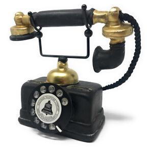 Telefono a disco decorativo vintage retrò stile antico in resina ornamento casa