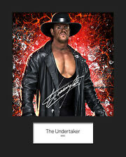 THE UNDERTAKER #3 (WWE) Signed 10x8 Mounted Photo Print - FREE DELIVERY