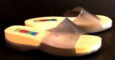 8f3e4d58d0d1dc AZALEIA HOT TROPICS - Charcoal Gray Slip-on Pool Beach Sandals - Women s  Size