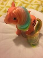 My Little Pony 1984 Flutterbye Pegasus Neon Hair Sparkly Butterfly Vintage 80's
