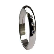 Platinum Band Natural Stone Fine Rings