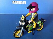 (M439.1) playmobil moto rally Paris Dakar ref 3222