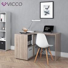 VICCO Schreibtisch Regal-Kombination Eiche Wei�Ÿ Winkelschreibtisch PC Büro
