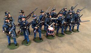 Union Iron Brigade, Set Of 13, 54mm Scale Metal