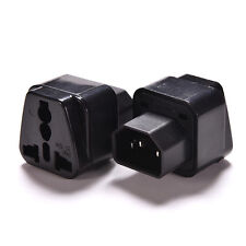IEC 320 PDU UPS C14 Plug To Universal Female Socket Power Adapter Converter cn