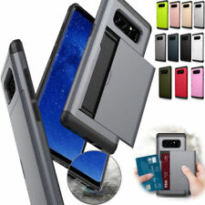For Samsung Galaxy Note 8/S8 Plus Armour Hybrid Case Cover with Credit Card Slot