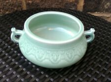 Chinese Qianlong Marked Celadon Porcelain Censer Bowl.
