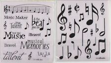 2 Sheets - Music Notes & Words Stickers