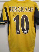 Dennis Bergkamp Arsenal 1999-2000 Signed Away Football Shirt & COA