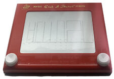 """VINTAGE 10""""x 8"""" ETCH A SKETCH! Red Magic Screen Ohio Art EXCELLENT CONDITION!"""