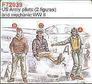 Czech Master 1/72 2 US Army Pilots WWII + Mechanic # F72039