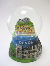 Devon County Snow Ball Snowglobe 9,5 cm, Souvenir Great Britain