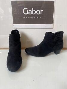 Gabor Comfy Black Leather Boots Size UK 6.5 EU 40