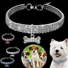Dogs Collar Crystal Bling Diamond Puppy Shiny Full Rhinestone Necklace Little