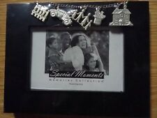 Black Picture Frame 4 X 6 Silver Charms Special Moments Memories Collection