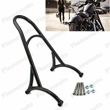 Burly Black Short Sissy Bar Backrest For Harley Sportster Iron 1200 883 XL 04-16