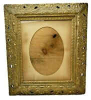 "Gold Gilt Large Ornate Wood Frame Victorian 25.25""H x 22.25""W Fine Art Antique"