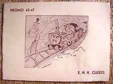 ECOLE NATIONALE HORLOGERIE CLUSES / LIVRET SATIRIQUE FIN DE PROMO 1943 / 1947