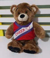 BUILD A BEAR BEAREMY WITH CHEERLEADER SHIRT! 40CM TALL BEAREMY TEDDY BEAR