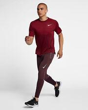 Nike Swift Men's Running Pants 2XL Burgundy Red Reflective Gym Training