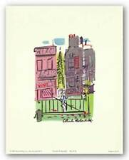Parisian Street Scene #15 Claude Rodewald Art Print 7x5