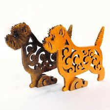 Cairn terrier dog figurine, dog statue made of wood (MDF), hand-paint