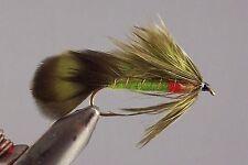 6 Matuka Olive Green, wet fly fishing flies, mouche, pêche,