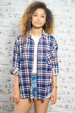 Grunge 100% Cotton Vintage Casual Tops & Shirts for Women