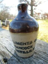 New ListingScarce Sm Town Missouri Mini Jug - Compliments Of D.H. Hancock Higginsville, Mo
