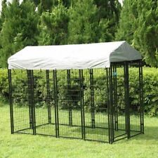 Sandinrayli Outdoor Dog Kennel with Rainproof Cover Protection Cage - Large