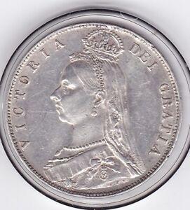 Very  Sharp  1890   Queen Victoria  Half  Crown  (2/6d) -  92.5%  Silver Coin