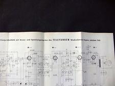 Telefunken Wechselstrom-Supers Jubilate 1161 Schalt- u. Platinenplan Service