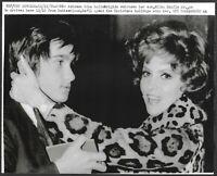 ~ Gina Lollobrigida Original 1970 Stamped UPI Press Photob Rome Italy