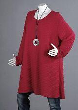 QUALITÀ SUPERIORE Vestito donna camicia top tunica LOOK a strati a campana 52 54