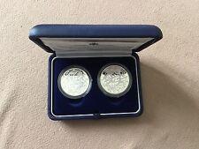St Marin Coffret 2 pièces argent 5 et 10 € proof 2003 Jeux Olymp. Eté Athènes