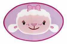 Childrens Disney Doc McStuffins Lambie Hugs Oval Shaped Floor Rug - 50cm x 75cm