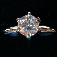 Ladies Platinum 6 1/4 Engagement Ring Modern Cut SI2 Clarity .75 Carats - Used