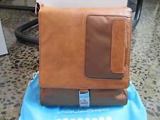 Piquadro Frame Light tan organized shoulder bag w/ mobile case CA1593FR/CU